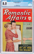 Golden Age (1938-1955):Romance, Romantic Affairs #3 (Atlas, 1950) CGC VF 8.0 Light tan to off-whitepages....