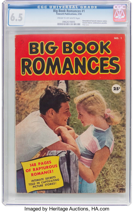 Big Book Romances #1 (Fawcett Publications, 1950) CGC FN+ 6.5 Cream to off-white pages....