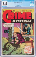 Golden Age (1938-1955):Crime, Crime Mysteries #12 (Ribage Publishing, 1954) CGC FN+ 6.5 Off-white to white pages....