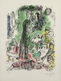 Fine Art - Work on Paper:Print, Marc Chagall (French/Russian, 1887-1985). Le Grand Paysan,1968. Lithograph in colors on Arches paper. 23-1/2 x 17-1/2 i...