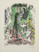Marc Chagall (French/Russian, 1887-1985) Le Grand Paysan, 1968 Lithograph in colors on Arches paper 23-1/2 x 17-1/2 i