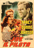 "Movie Posters:War, A Guy Named Joe (MGM, 1949). First Post-War Release Italian Poster(45"" X 63""). War.. ..."