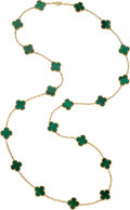 Estate Jewelry:Necklaces, Malachite, Gold Necklace, Van Cleef & Arpels . ...