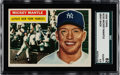 Baseball Cards:Singles (1950-1959), 1956 Topps Mickey Mantle #135 SGC 82 EX/MT+ 6.5....