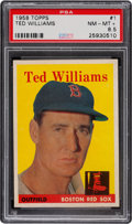 Baseball Cards:Singles (1950-1959), 1958 Topps Ted Williams #1 PSA NM-MT+ 8.5....