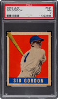 Baseball Cards:Singles (1940-1949), 1948 Leaf Sid Gordon #131 PSA NM 7....
