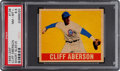 Baseball Cards:Singles (1940-1949), 1948 Leaf Cliff Aberson (Short Sleeve) #136 PSA NM-MT+ 8.5 - PopOne, None Higher. ...