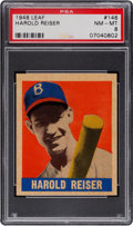 Baseball Cards:Singles (1940-1949), 1948 Leaf Harold Reiser #146 PSA NM-MT 8 - None Higher. ...
