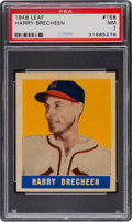 Baseball Cards:Singles (1940-1949), 1948 Leaf Harry Brecheen #158 PSA NM 7 - Pop Six, None Higher. ...
