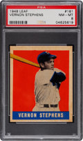 Baseball Cards:Singles (1940-1949), 1948 Leaf Vernon Stephens #161 PSA NM-MT 8 - None Higher. ...