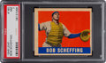Baseball Cards:Singles (1940-1949), 1948 Leaf Bob Scheffing #160 PSA NM 7 - Pop Two, Two Higher....