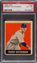 Baseball Cards:Singles (1940-1949), 1948 Leaf Freddy Hutchinson #163 PSA EX-MT 6....