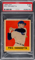 Baseball Cards:Singles (1940-1949), 1948 Leaf Phil Cavarretta #168 PSA NM 7....