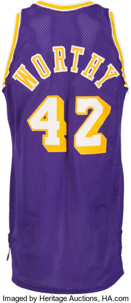 2bd71c248f8 1988-89 James Worthy Game Worn Los Angeles Lakers Jersey