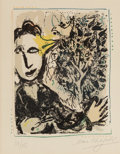 Prints & Multiples, Marc Chagall (French/Russian, 1887-1985). L'Oiseau-Peintre , 1967. Lithograph in colors on paper. 13-5/8 x 11 inches (34...