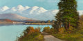 Fine Art - Painting, American, John Englehart (American, 1867-1915). On Donner Lake. Oil oncanvas. 8 x 16 inches (20.3 x 40.6 cm). Signed lower right:...