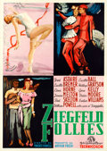 "Movie Posters:Musical, Ziegfeld Follies (MGM, 1950). First Post-War Release Italian 4 -Fogli (55"" X 78"") Ercole Brini Artwork.. ..."