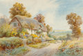 Fine Art - Work on Paper:Watercolor, Thomas Noelsmith (British, 19th Century). Alham, Somersetand Holdenhurst, Hants (two works). Watercolor on paper.1... (Total: 2 Items)