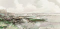 Fine Art - Painting, American:Modern  (1900 1949)  , Charles C. Gruppe (American, b. 1928). Gloucester View. Oilon board. 11-1/2 x 23-1/2 inches (29.2 x 59.7 cm) (sight). S...