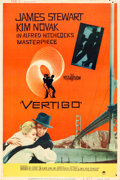 "Movie Posters:Hitchcock, Vertigo (Paramount, 1958). Poster (40"" X 60"") Style Y, Saul Bass Artwork.. ..."