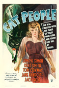 "Movie Posters:Horror, Cat People (RKO, 1942). One Sheet (27"" X 41"") William RoseArtwork.. ..."