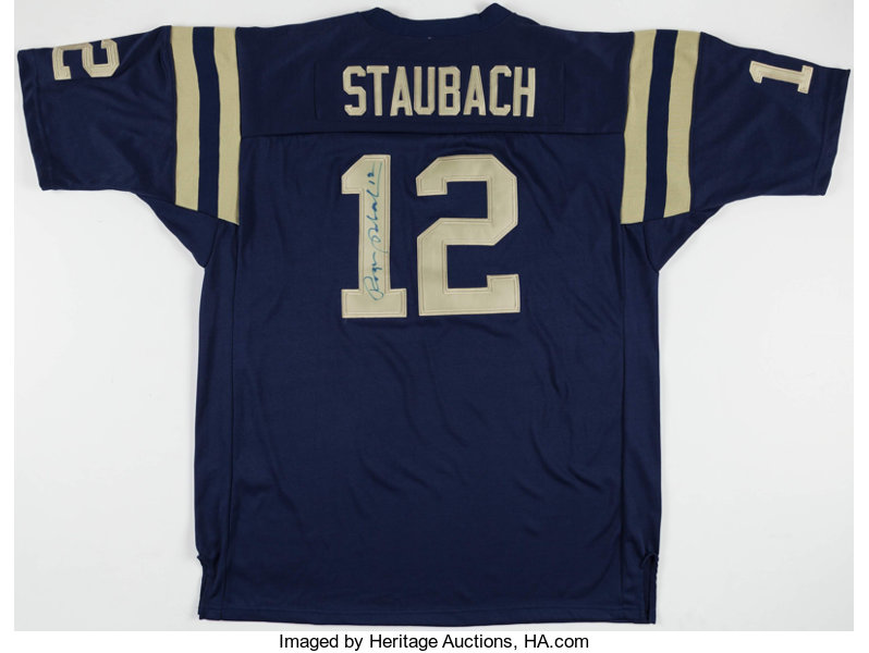 size 40 f0833 821e8 Roger Staubach Signed Navy Midshipmen Jersey. ... Football ...