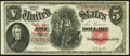 Large Size:Legal Tender Notes, Fr. 87 $5 1907 Legal Tender Very Fine-Extremely Fine.. ...