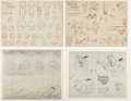 animation art:Model Sheet, Disney Studio Model Sheet Print Group of 10 (Walt Disney, c.1930s).... (Total: 10 Items)