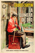 "Movie Posters:Comedy, The Gold Rush (International Films, R-1940s). Argentinean Poster(29"" X 43"") Aler Artwork.. ..."