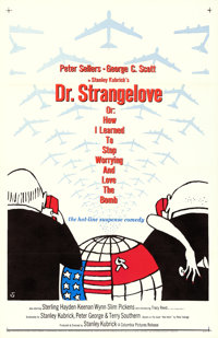 """Dr. Strangelove or: How I Learned to Stop Worrying and Love the Bomb (Columbia, 1964). One Sheet (27"""" X 41"""") D..."""