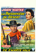 """Movie Posters:Western, The Searchers (Warner Brothers, 1956). Belgian (14.25"""" X 21.25"""").. ..."""