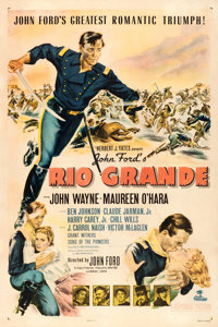 "Rio Grande (Republic, 1950). One Sheet (27"" X 41"")"