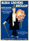 """Movie Posters:Comedy, Spite Marriage (MGM, 1929). Swedish One Sheet (28"""" X 39.5"""").. ..."""