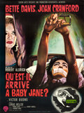 """Movie Posters:Horror, What Ever Happened to Baby Jane? (Warner Brothers, 1962). French Grande (45.5"""" X 61.5"""") Style B, Jean Mascii Artwork.. ..."""