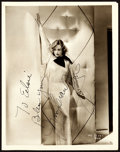 "Movie Posters:Miscellaneous, Joan Crawford (MGM, early 1930s). Autographed Photo (8"" X 10"")..early. ..."