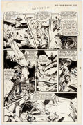 Original Comic Art:Panel Pages, Maxwell Elkan Fight Comics #54 Story Page 5 Original Art(Fiction House, 1948)....