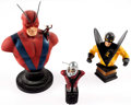 Hank Pym Limited Edition Statue Busts group of 3 (DC, 1998-2002) Comic Art