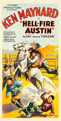 "Movie Posters:Western, Hell-Fire Austin (Tiffany, 1932). Three Sheet (41"" X 81"").. ..."