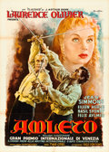 "Movie Posters:Academy Award Winners, Hamlet (Eagle Lion, R-1952). Italian 2 - Fogli (39.25"" X 55"")Anselmo Ballester Artwork.. ..."