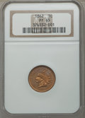 Proof Indian Cents: , 1862 1C PR65 NGC. NGC Census: (79/32). PCGS Population: (83/26). CDN: $1,900 Whsle. Bid for problem-free NGC/PCGS PR65. Min...