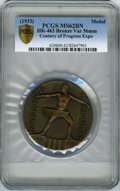 Expositions and Fairs, 1933 Century of Progress Exposition, Official Medal, HK-463, MS62 Brown PCGS. 56mm, Bronze....