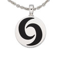Estate Jewelry:Pendants and Lockets, Black Onyx, White Gold, Stainless Steel, Pendant-Necklace, Bvlgari. ...