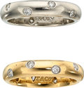 Estate Jewelry:Rings, Diamond, Platinum, Gold Eternity Bands, Tiffany & Co.. ... (Total: 2 Items)