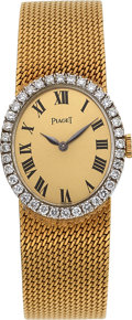 Estate Jewelry:Watches, Piaget Lady's Diamond, Gold Watch. ...