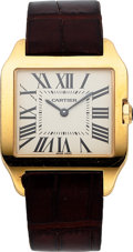 Estate Jewelry:Watches, Cartier Gentleman's Gold Santos Watch. ...