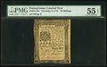 Colonial Notes:Pennsylvania, Pennsylvania December 8, 1775 20s PMG About Uncirculated 55 EPQ.....