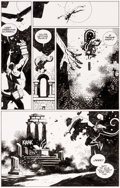 Original Comic Art:Panel Pages, Mike Mignola Hellboy: Wake the Devil #3 Story Page 6Original Art (Dark Horse, 1996)....