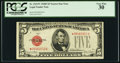 Small Size:Legal Tender Notes, Fr. 1531* $5 1928F Narrow Legal Tender Star Note. PCGS Very Fine 30.. ...