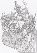 Original Comic Art:Covers, Geof Darrow Ammo Armageddon Cover Original Art (Tundra UK,1993)....