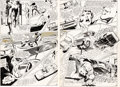 Original Comic Art:Panel Pages, Neal Adams Strange Adventures #214 Double-Page Spread 11-12Original Art (DC, 1968).... (Total: 2 Original Art)
